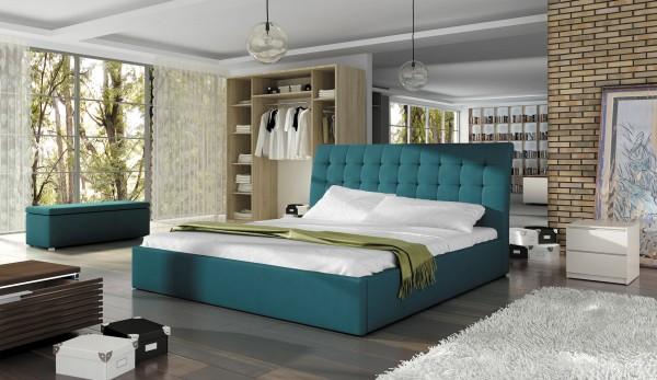 """Designer Doppelbett """"Tessaro"""" Bett Polsterbett mit Bettkasten + Lattenrost ! Grösse frei w"""