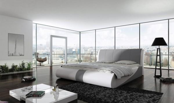 "Designer Doppelbett ""Presano"" Bett Polsterbett mit Bettkasten + Lattenrost ! Grösse frei w"