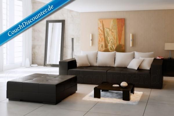 Big Sofa Riesensofa Megasofa Kunstleder Schwarz