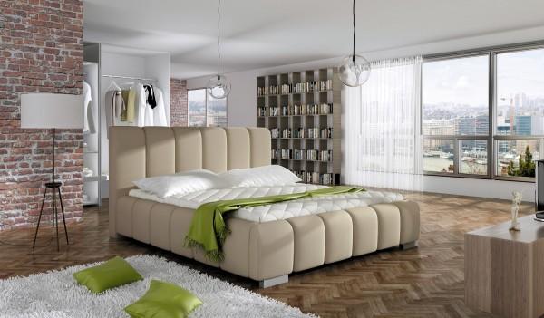 "Designer Doppelbett ""Lagoon"" Bett Polsterbett mit Bettkasten + Lattenrost ! Grösse frei wä"