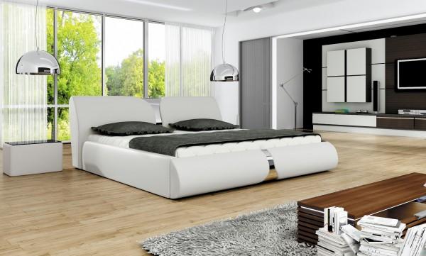 "Designer Doppelbett ""Rio"" Bett Polsterbett mit Bettkasten + Lattenrost ! Grösse frei wählb"