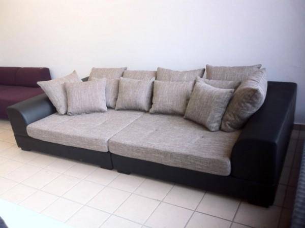 """Big Sofa XXL """"Rundlehne"""" mit abnehmbaren Sitzbezügen"""