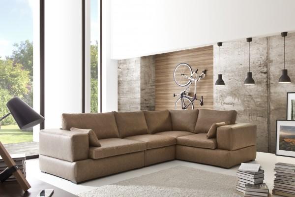 """Designer Riesen Wohnlandschaft Ecksofa Modell """"Ranch"""" (323 x 214 cm)"""