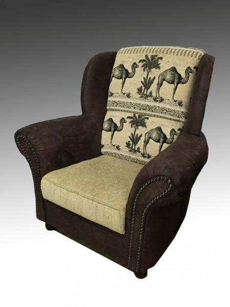 Sessel für Big Sofa Afrika / Kolonialstil Farbe frei wählbar!