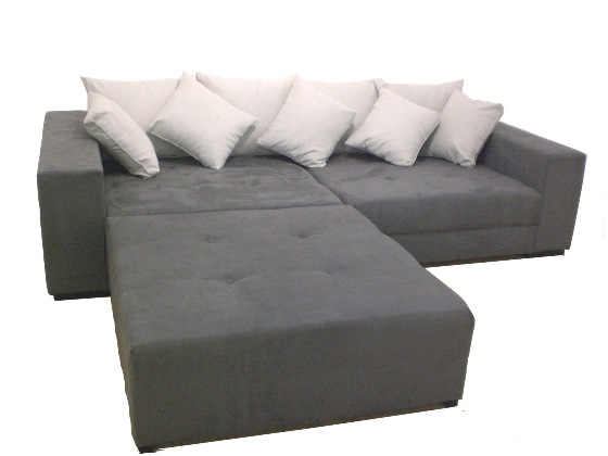 Big Sofa Xxl Inkl Hocker Alcatex Grau Big Sofa Couchdiscounter