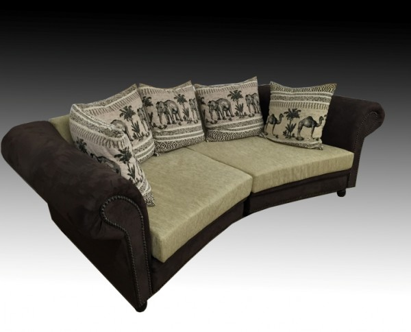 Big Sofa Afrika (270 cm / 320 cm) Sofa XXL Kolonialstil Farbe frei wählbar!