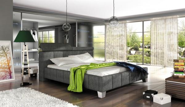 "Designer Doppelbett ""Madero"" Bett Polsterbett mit Bettkasten + Lattenrost ! Grösse frei wä"