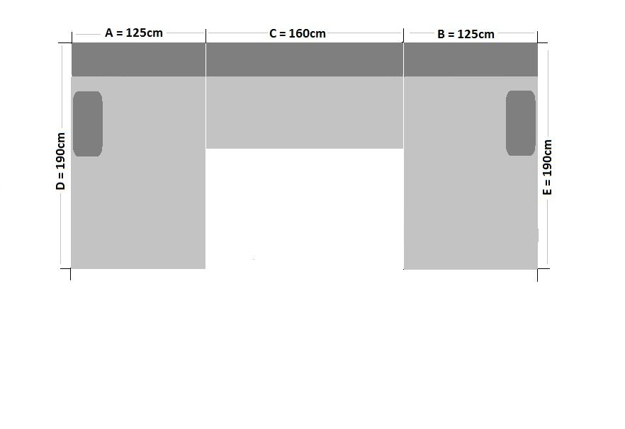 Design Wohnlandschaft U-Sofa \