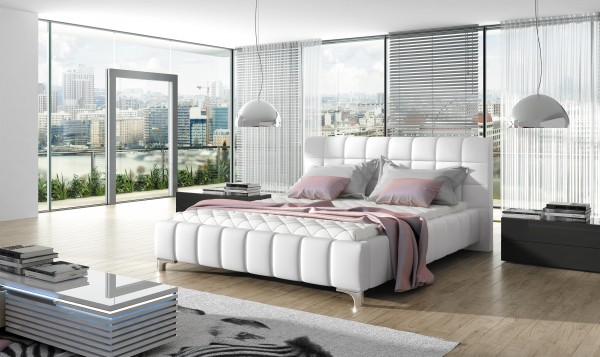 "Designer Doppelbett ""Vivona"" Bett Polsterbett mit Bettkasten + Lattenrost ! Grösse frei wä"