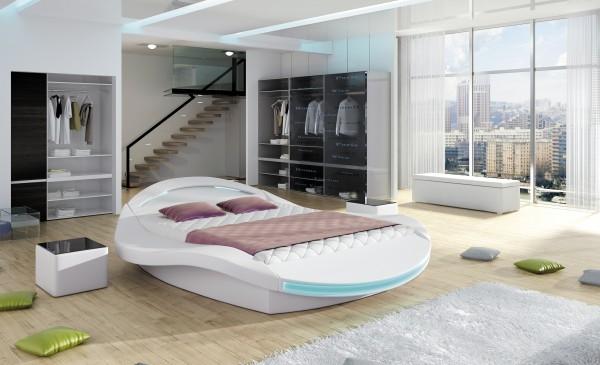 "Designer Doppelbett ""Catania"" Bett Polsterbett mit Bettkasten + Lattenrost ! Grösse frei w"