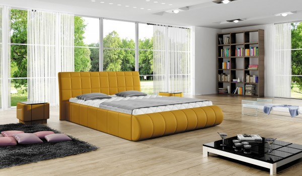 "Designer Doppelbett ""Asmera"" Bett Polsterbett mit Bettkasten + Lattenrost ! Grösse frei wä"
