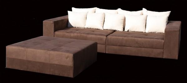 Big Sofa XXL Alcatex Braun