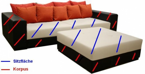Big Sofa XXL individuell anpassen