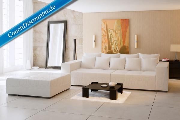 Big Sofa Riesensofa Megasofa Kunstleder Weiß
