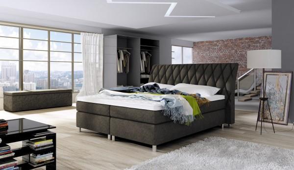 """Designer Doppelbett """"Toulouse"""" Bett Polsterbett, Grösse frei wählbar!"""